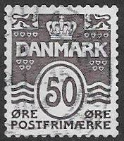 Denmark 2010 Definitive 50ö good/fine used