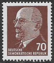 East Germany SG E585 1963 Definitive 70pf unmounted mint