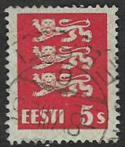 Estonia SG76 1928 Definitive 5s  good/fine used
