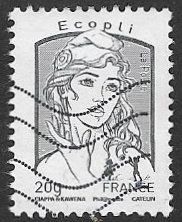 France 2013 Definitive Ecopli 20g good/fine used