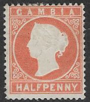Gambia SG11B 1880 Definitive ½d mounted mint