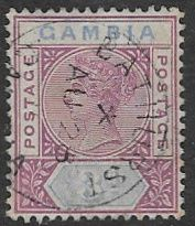 Gambia SG41 1898 Definitive 3d used FILLER