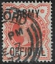 GB SG O41 1896 ½d good/fine used