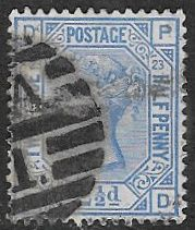 GB  SG157 1881 Definitive 2½d plate 23 lettered DP-PD used