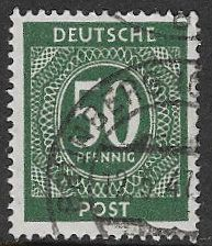 Germany Allied Occupation - American, British and Soviet Zones 1946 SG920 Def 50pf good/fine used
