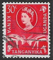 Kenya, Uganda and Tanganyika SG188 1960 Definitive 30c good/fine used